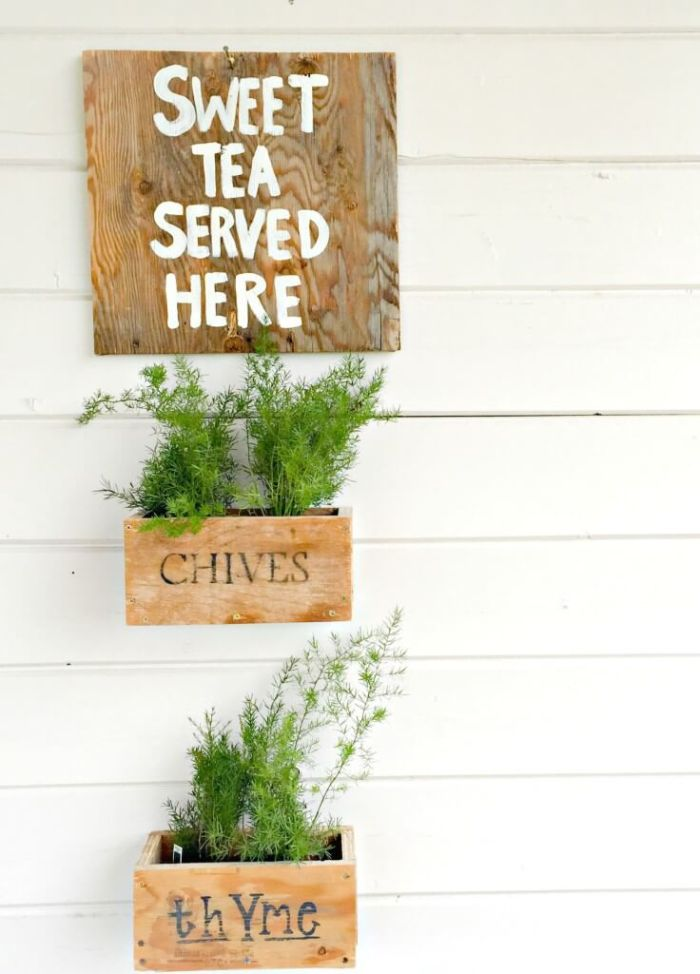 hanging herb planter boxes