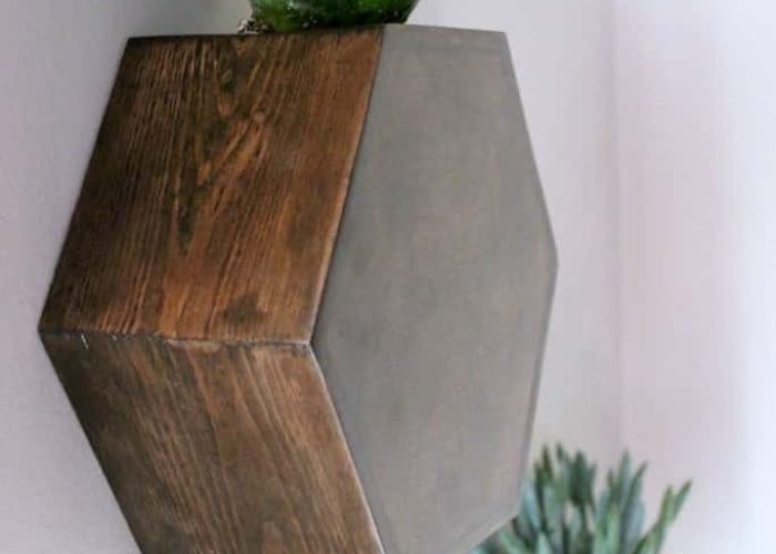 hexagon wall planters (16 Ideas for Decorating with Indoor Plants)