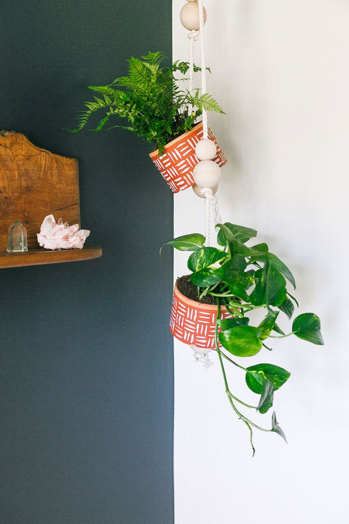 painted hanging planters