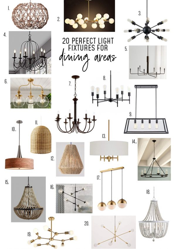 perfect light fixtures for dining areas