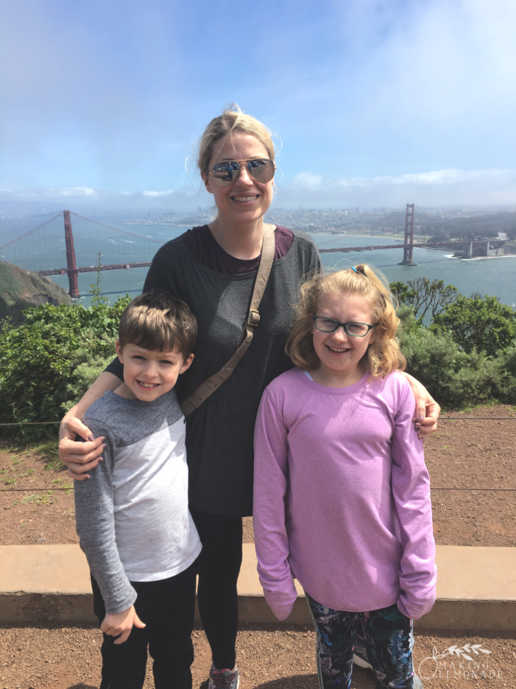 traveling with kids: Golden Gate Bridge California Road Trip