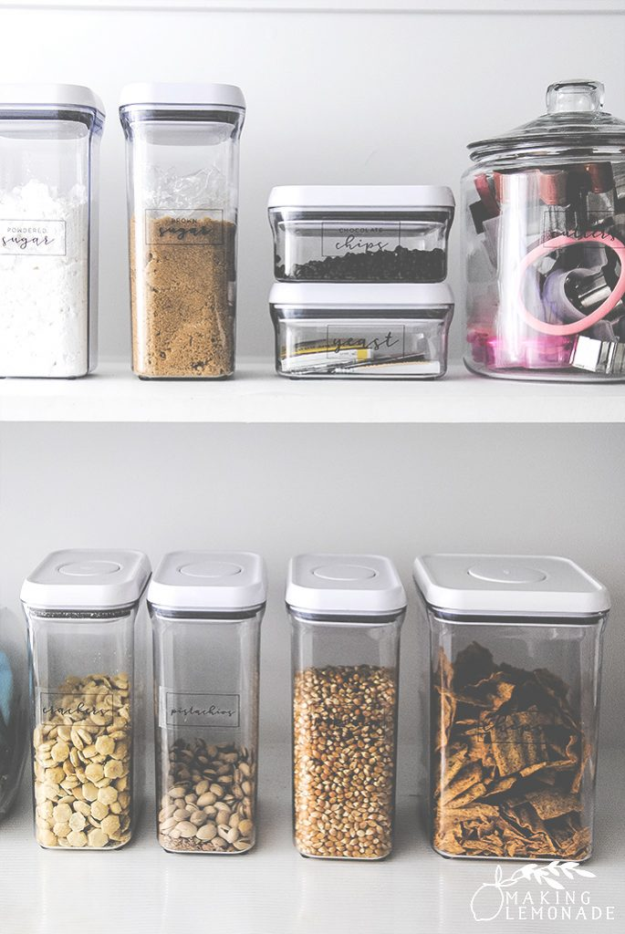 how to organize any sized pantry (small spaces to a walk-in pantry) for maximum food and household storage!