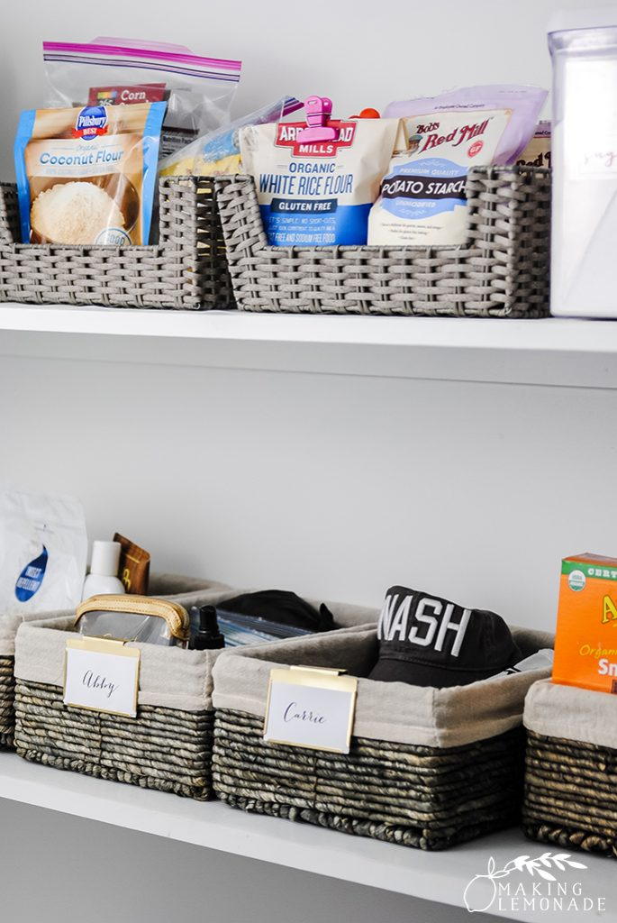 how to organize any size pantry for maximum food and household storage!