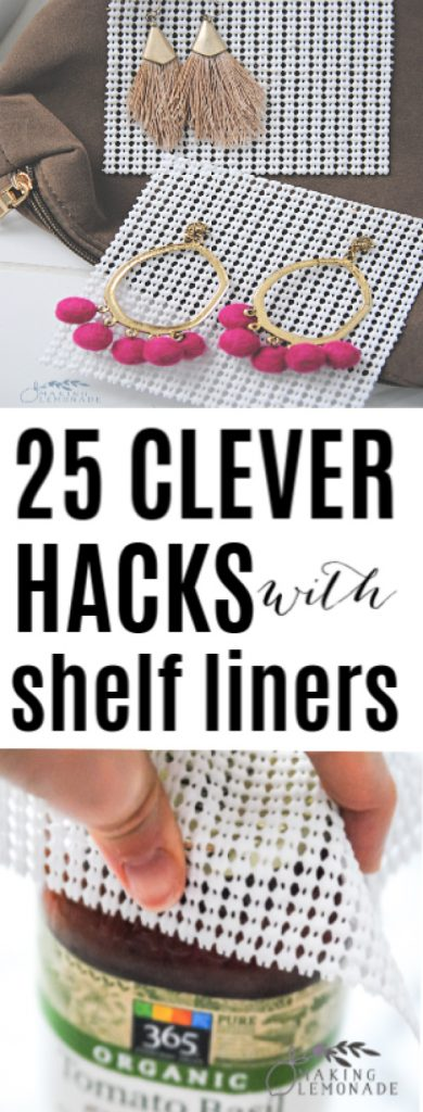 25 Cleaning and Organizing Tips and Ideas using Shelf Liners