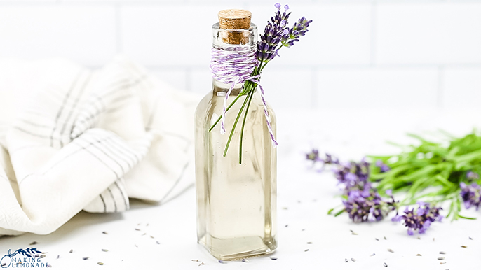 How to make delicious lavender simple syrup recipe to use in herbal cocktails, coffees, and desserts!