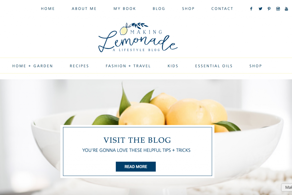Making Lemonade home page