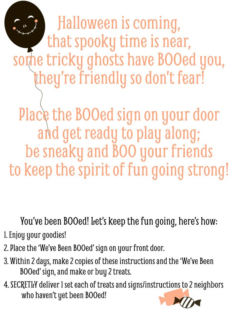 'We've Been BOO-ed' sign