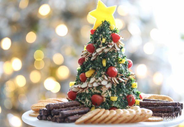 classic christmas tree cheese ball