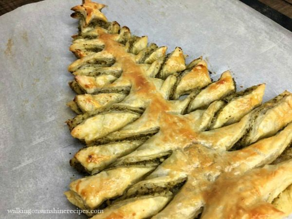 christmas tree pesto puff pastry