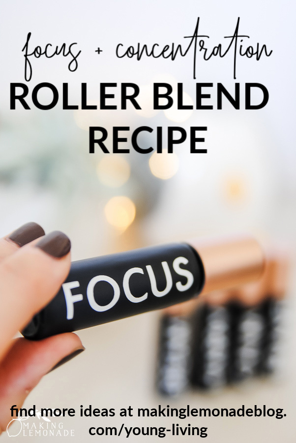 focus essential oil roller bottle