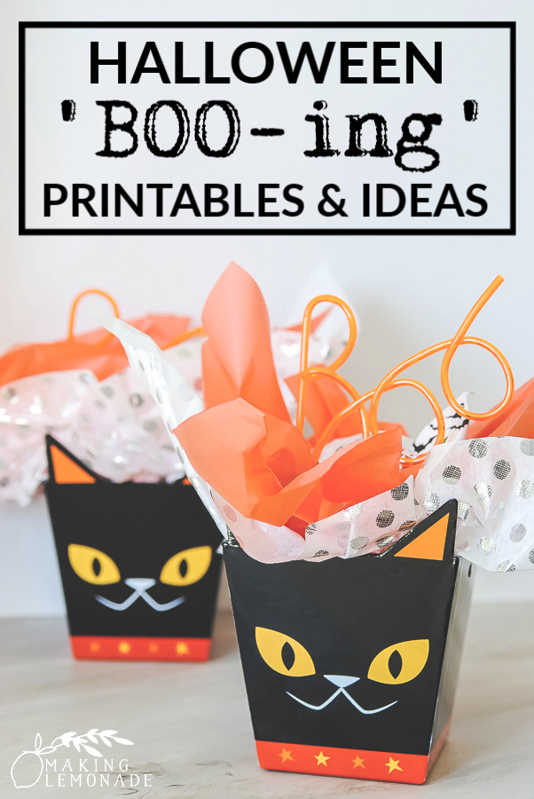free printable BOO-ing signs and ideas for Halloween