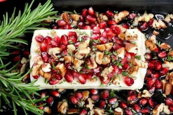 pomegranate pecan party appetizer