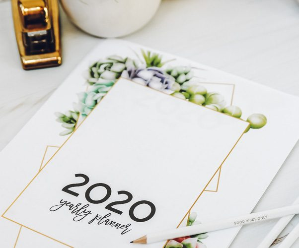 pretty (and FREE!) printable 2020 planner (17 pages of calendars and planning pages to set and smash your goals!)
