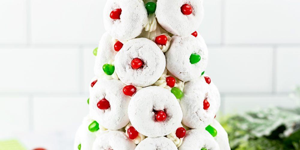 how ot make a holiday doughnut tree