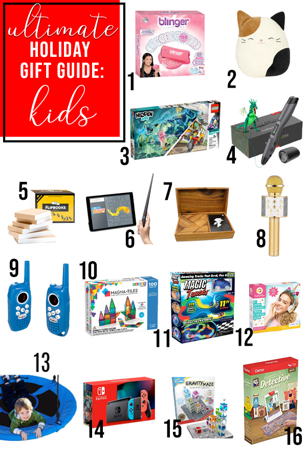 best holiday gifts for kids pin image with toys