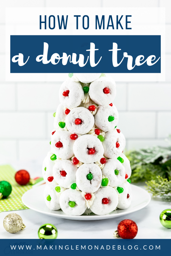 how to make a Christmas donut tree