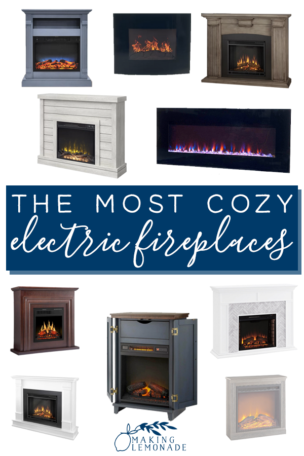 cozy electric fake fireplaces (that look real)