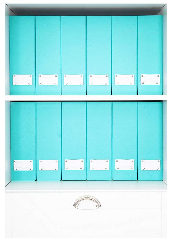 blue magazine holders
