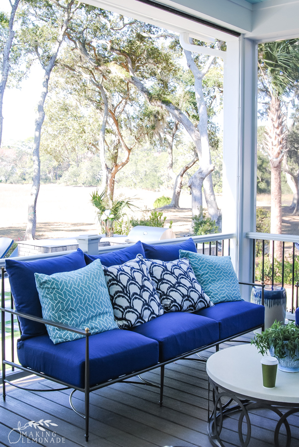 outdoor sofa on porch