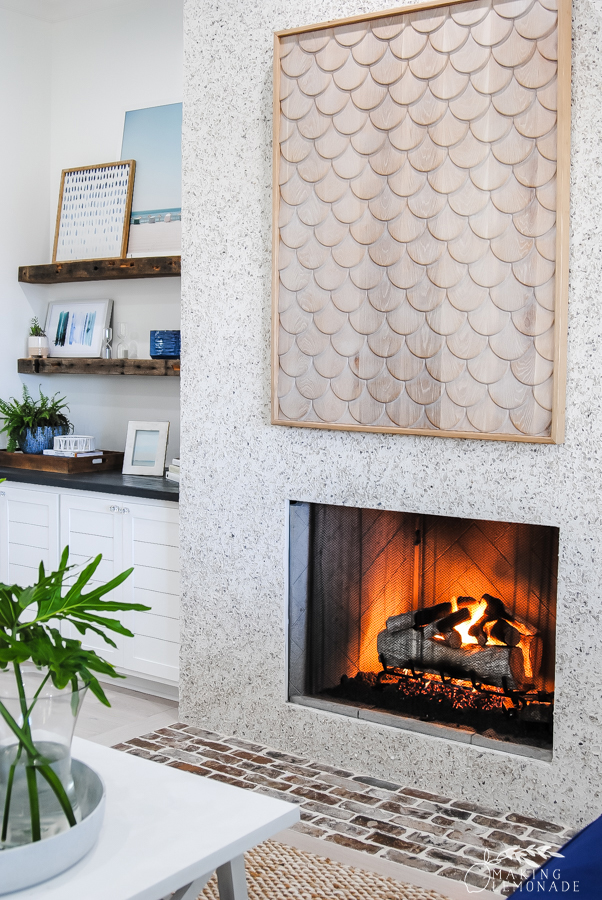 fireplace in HGTV Dream Home
