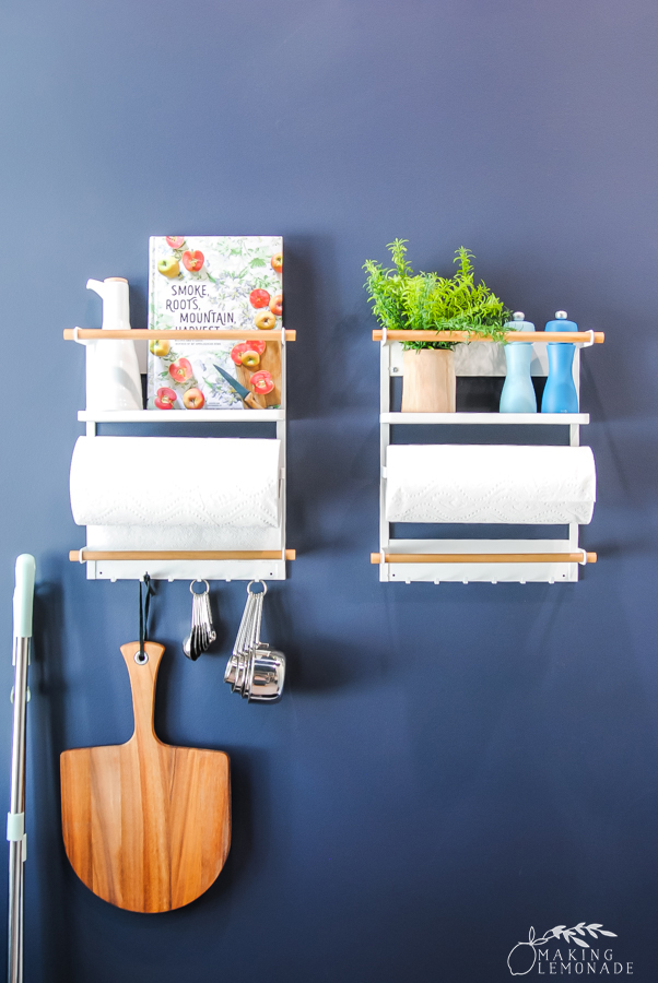 wall racks in pantry