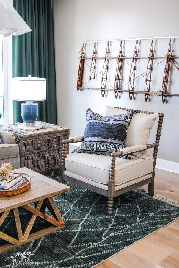 Insider's Tour of the HGTV Dream Home great room with chair