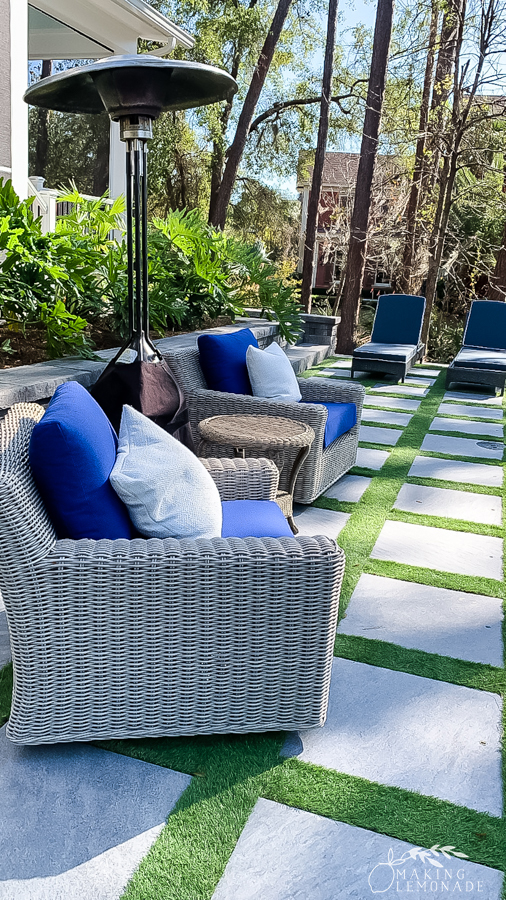 Insider's Tour of the HGTV Dream Home in Hilton Head, South Carolina stepping stones on patio
