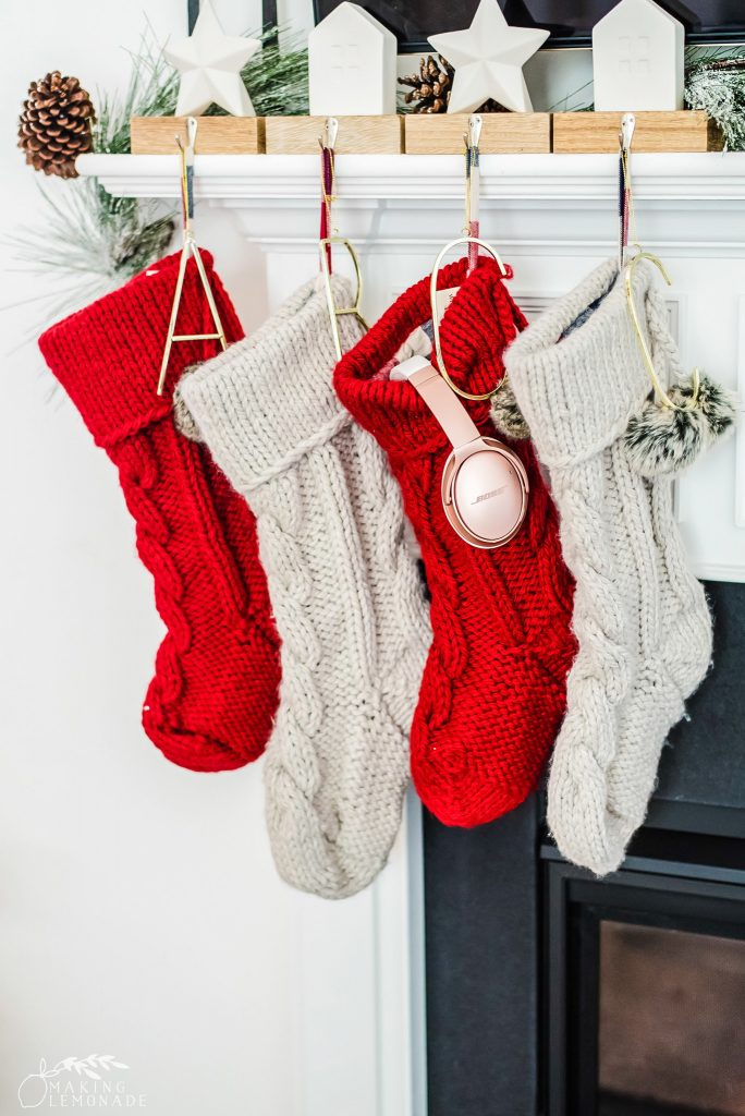 stockings hanging by fireplace