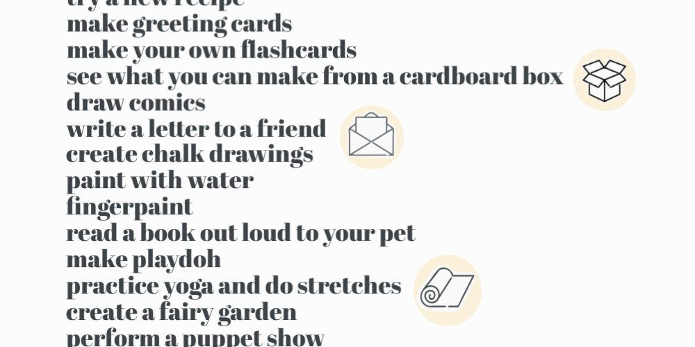 printable list of kids activities