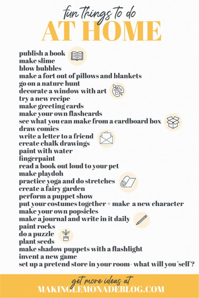 Image result for fun things to do for kids at home