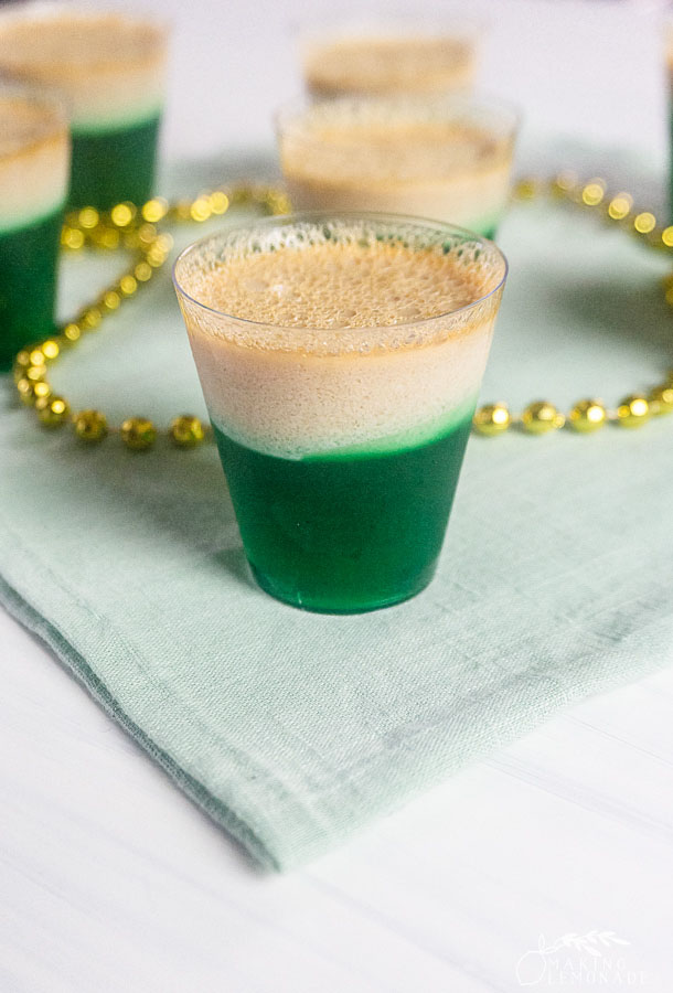 st. patrick's day jello shot with alcohol