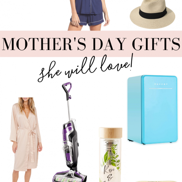 collage of Mother's Day gift ideas