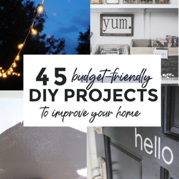 collage of home improvement ideas