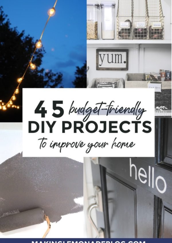 45 Free or Inexpensive Home Improvement Ideas