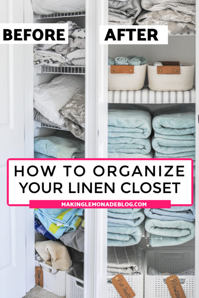 how to organize your linen closet before and after