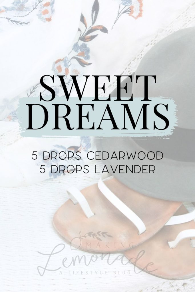 sweet dreams diffuser blend recipe