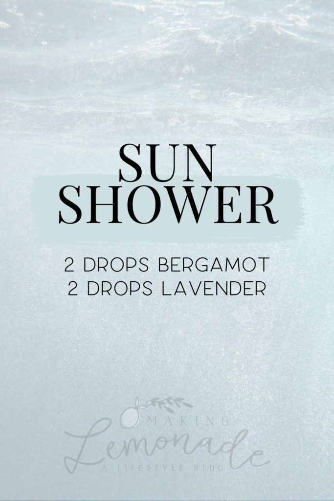 sun shower diffuser blend recipe