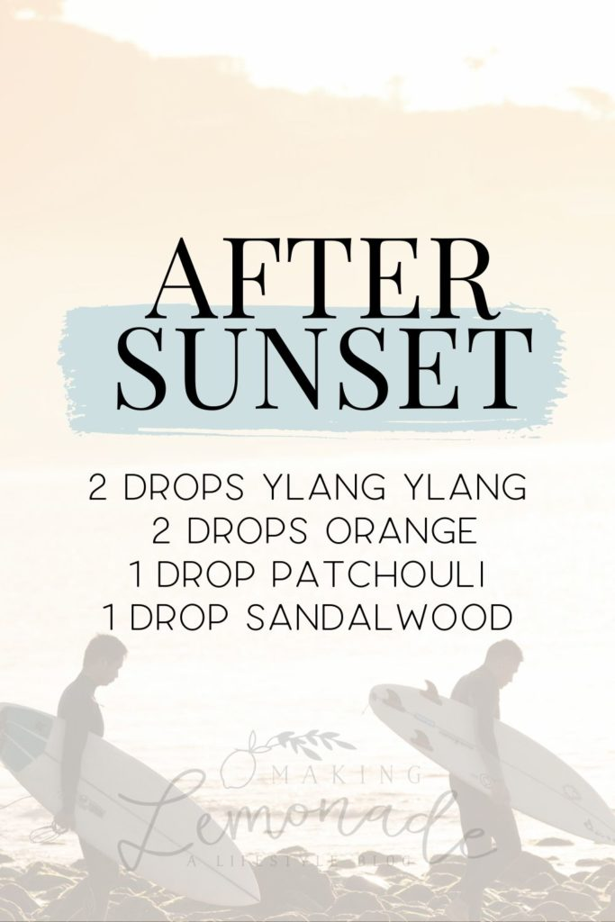 after sunset diffuser blend recipe