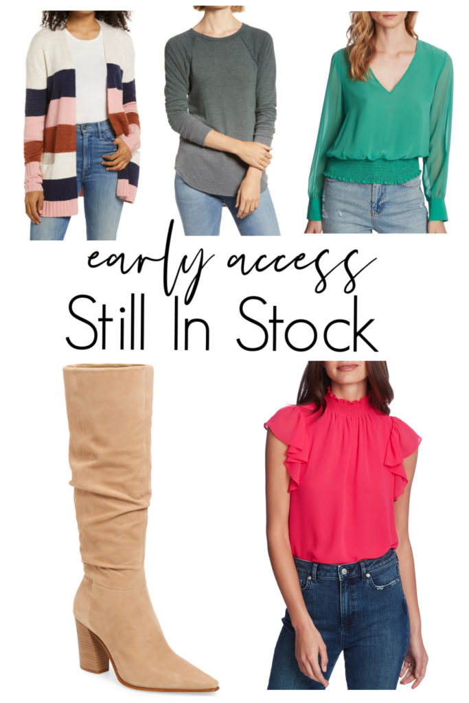 clothing still in stock for early access at nordstrom sale