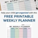Free Printable Weekly Student Planner