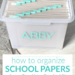 How to Organize Kids School Papers & Keepsakes