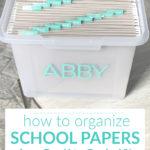 How to Organize Kids School Papers & Keepsakes