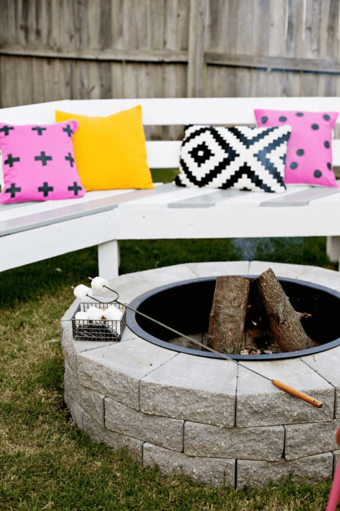 DIY fire pit with smores