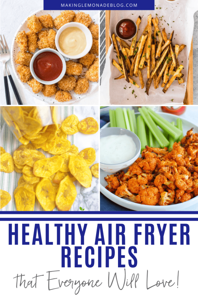 healthy air fryer recipe collage
