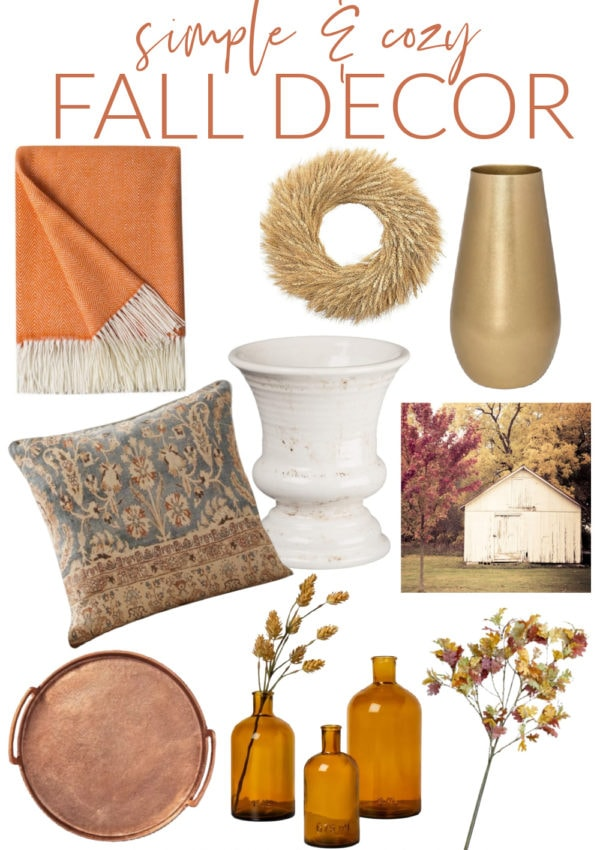 cozy fall favorites collage
