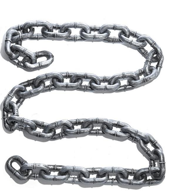 metal chain prop for Halloween