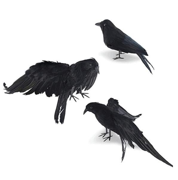 3 fake crows