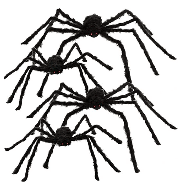fake hairy outdoor spiders