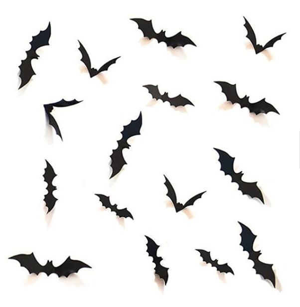 black bats on wall