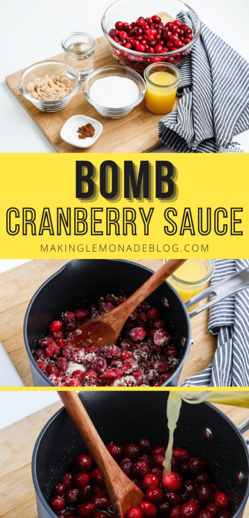 how to make cranberry sauce collage